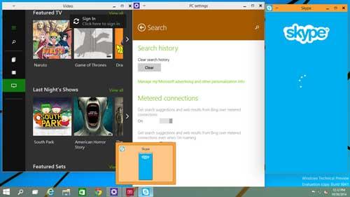 programma's nu zichtbaar in een geminimaliseerd scherm