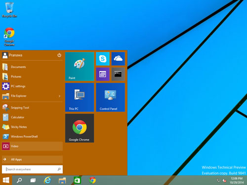 Het startmenu in Windows 10