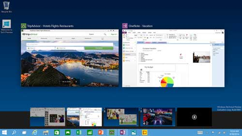 Bureaublad wisselen in Windows 10